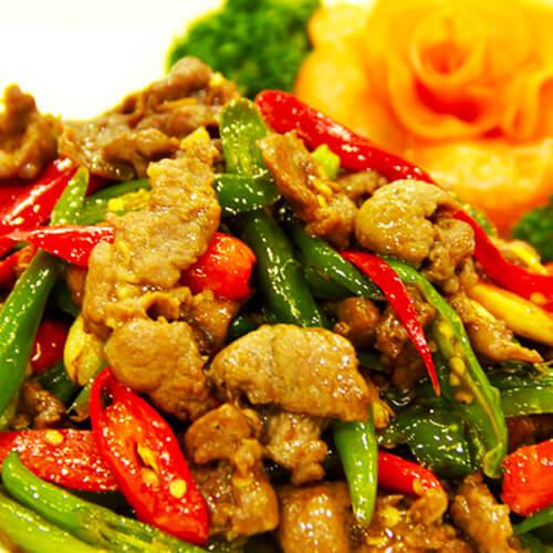 健康的豆豉辣椒小炒肉