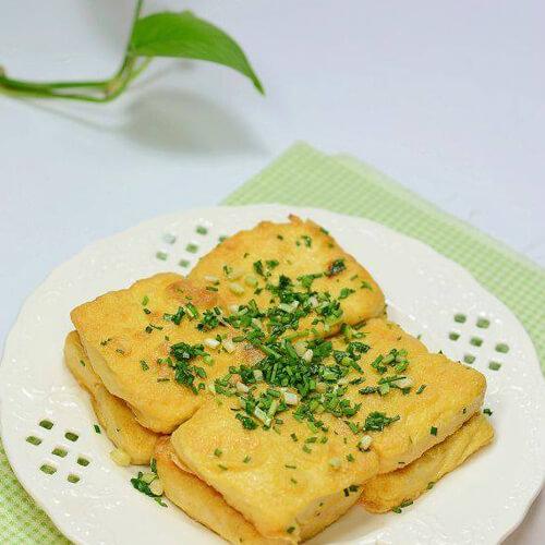 香葱煎柏杨豆腐干