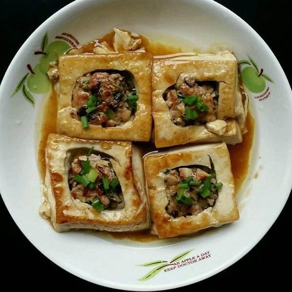 番茄菰米酿豆腐