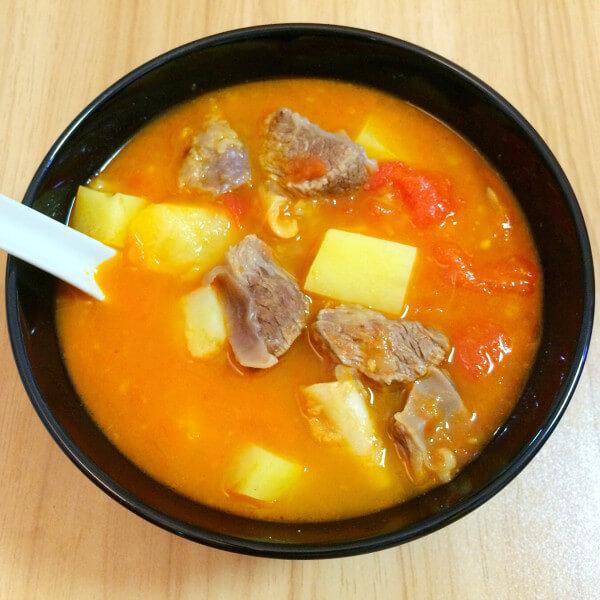 土豆粉丝牛腩汤