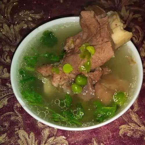 豌豆棒子骨汤