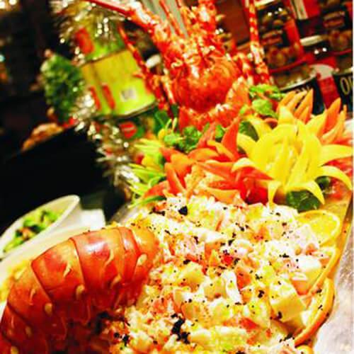 味道不错的龙虾水果沙拉