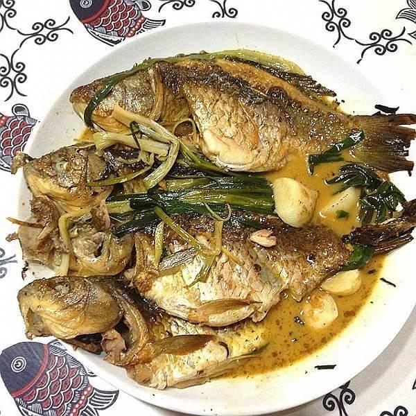 葱烧河豚鱼