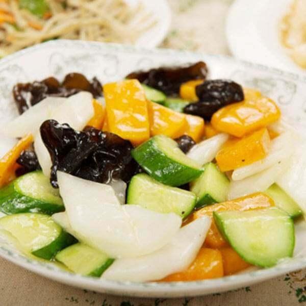 腌白菜炒日本南瓜