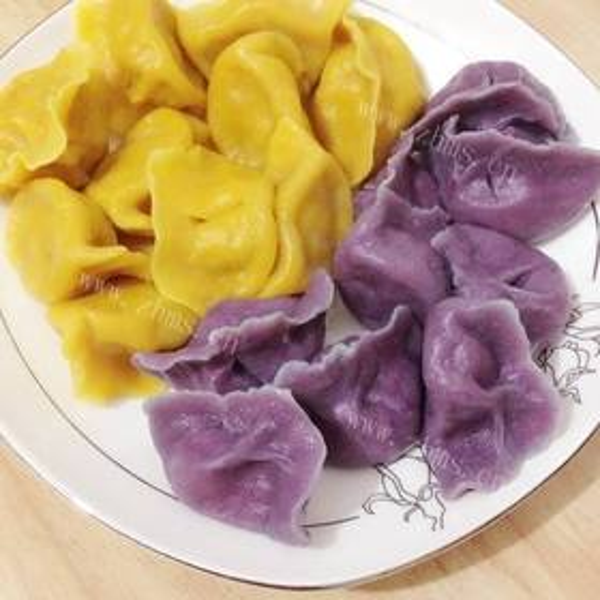 家常小素之双色水饺