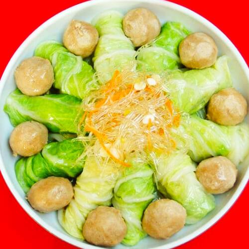清蒸白菜肉卷