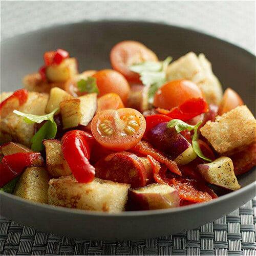 番茄沙拉面包