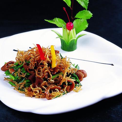 韭菜炒银鱼