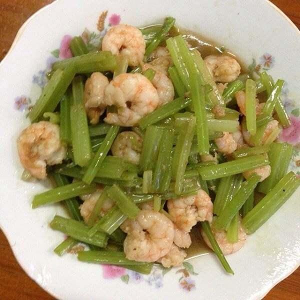 虾仁炝拌芹菜