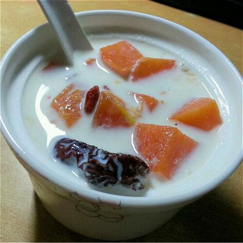 红枣牛奶木瓜