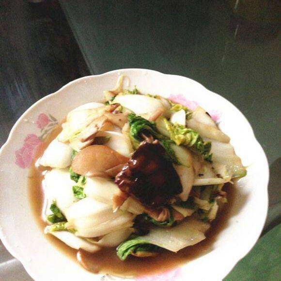 双菇炒黄心菜