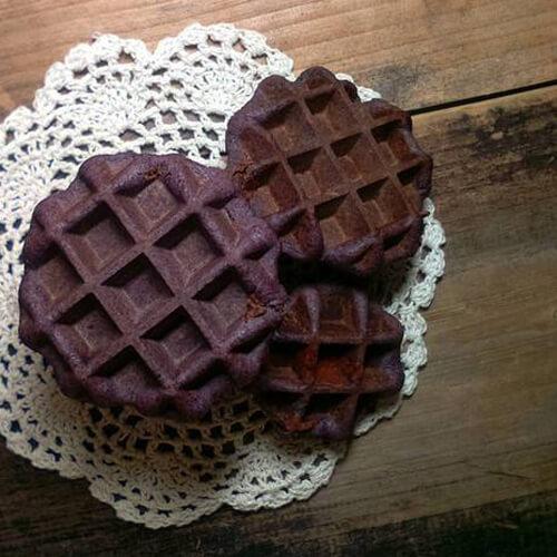 纯黑米红糖华夫饼