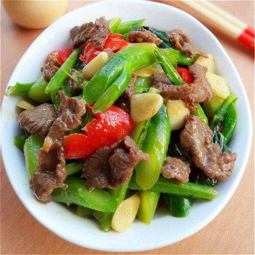 芥兰菜炒卤牛肉