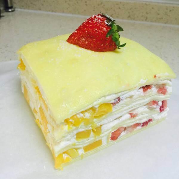 千层榴芒蛋糕