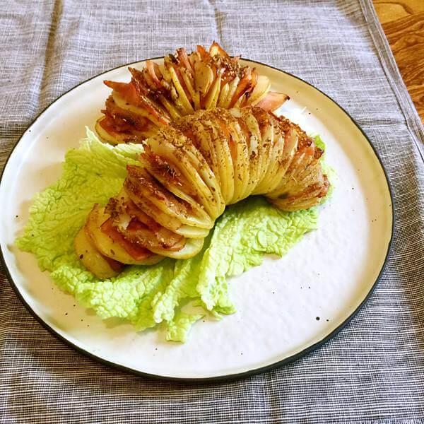美味营养的风琴烤土豆
