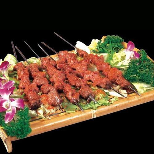 香甜的烤羊肉串的做法