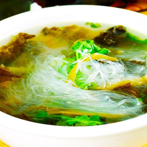 双菇粉丝汤