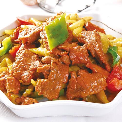 蒜香春菜炒牛肉