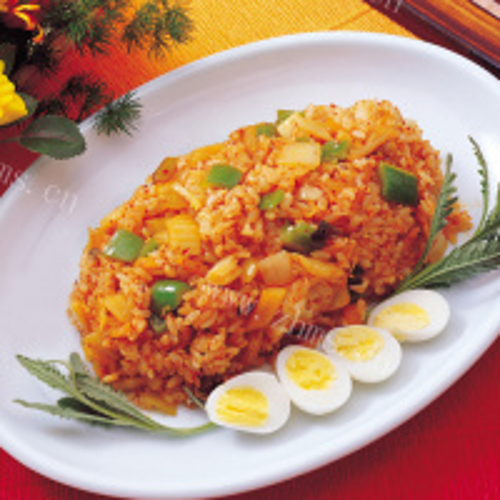 香菇胡萝卜蛋炒饭