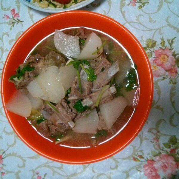 健康羊肉炖萝卜的做法