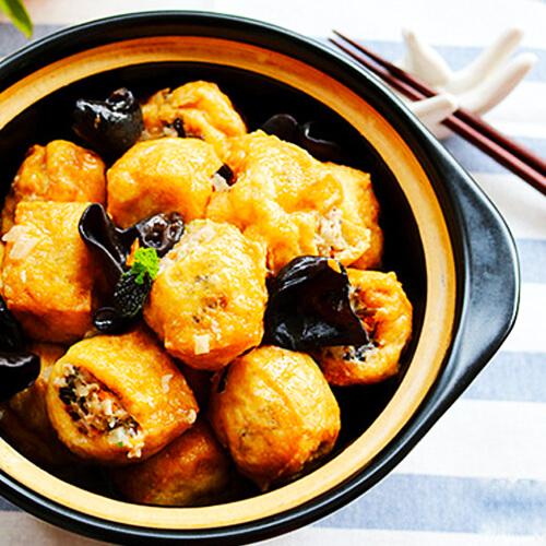 好吃的酿豆腐泡