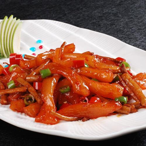 青椒胡萝卜炒牛筋