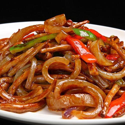 豆豉辣椒炒肉皮