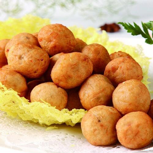 红薯糯米黄豆丸