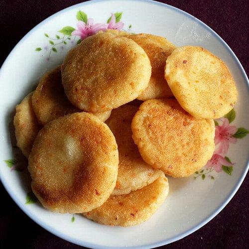 枣香红糖苹果豆渣饼