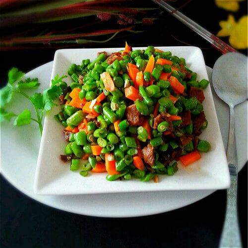 豇豆粒炒酱牛肉