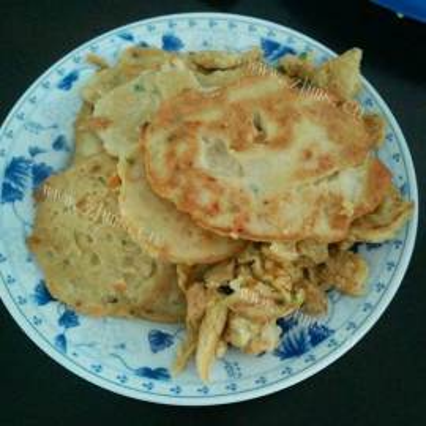 早餐韭菜鸡蛋豆渣饼