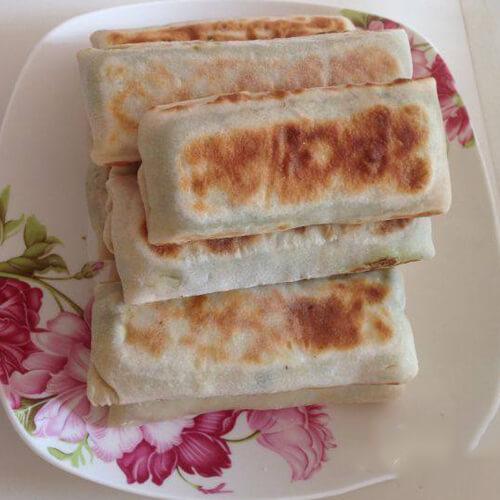 【DIY美食】茼蒿海米小煎卷