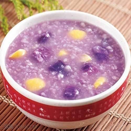 【首发】玉米紫薯粥