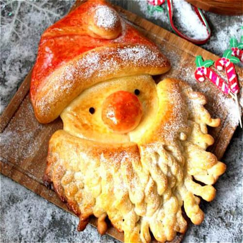 自制圣诞老人面包
