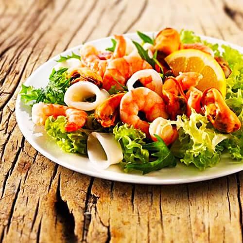 好吃的泰式海鲜沙拉