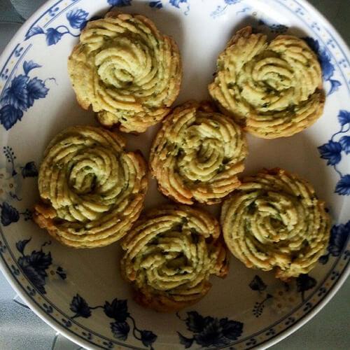(懒人版)葱香曲奇饼