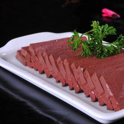 鲜猪血火锅