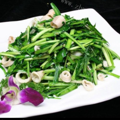 家常淡菜炒韭菜