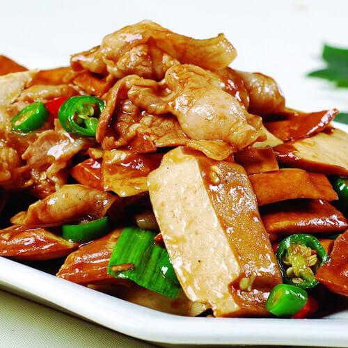 鸡蛋芹菜炒香干