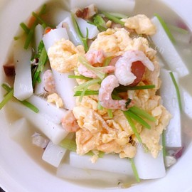 虾米蛋炒年糕