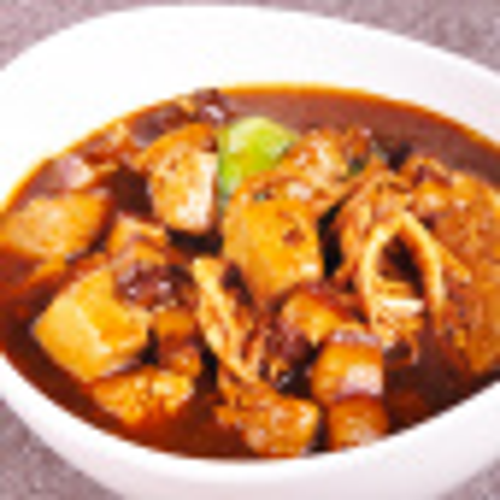 自己做的八爪鱼焖豆腐