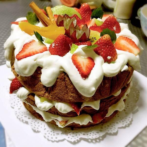 可可戚风小蛋糕