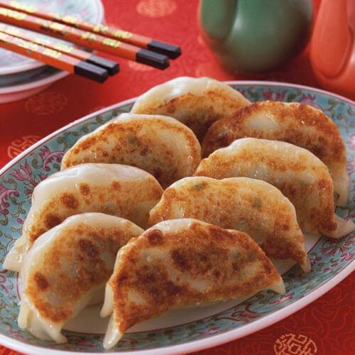 羊肉香菇水煎大饺子