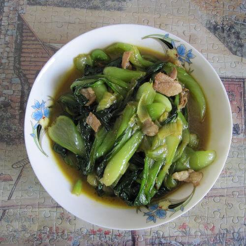 健康的青菜炒肉丝