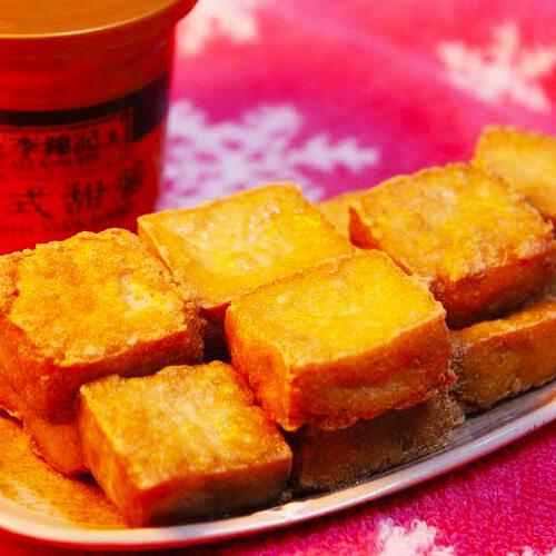 家常青菜炒臭豆腐