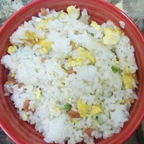 家常素炒米饭