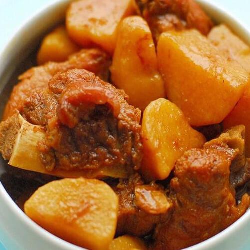 炸排骨炖土豆