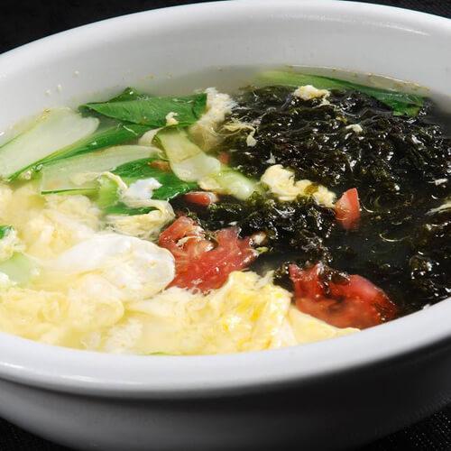 蘑菇紫菜大骨汤