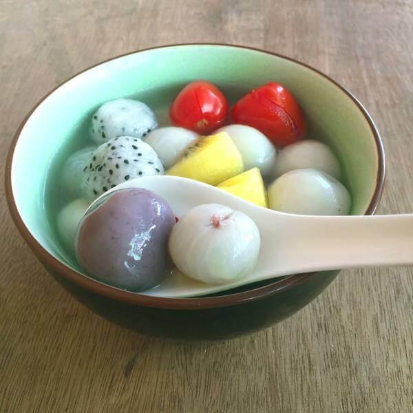 健康美食之榨菜小汤圆