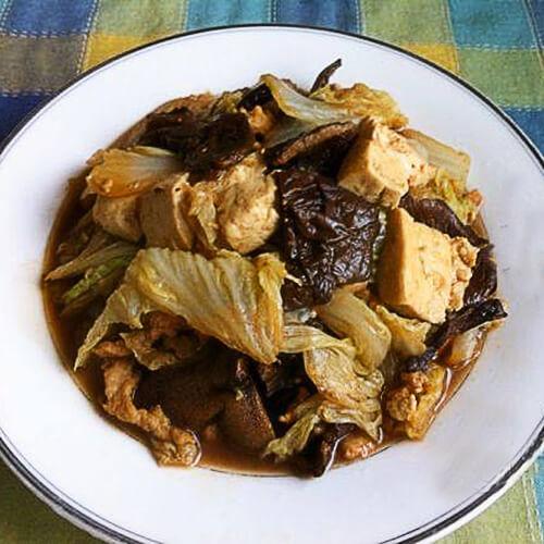 白菜豆腐榛蘑炒肉